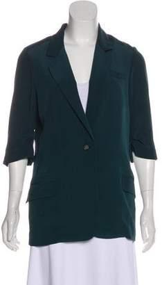 Elizabeth and James Three-Quarter Sleeve Silk Jacket