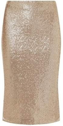 Dorothy Perkins Womens Rose Gold Sequin Embellished Pencil Skirt