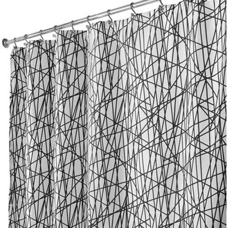 InterDesign Abstract Fabric Shower Curtain, Various Sizes & Colors