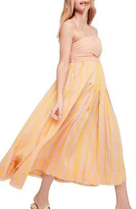 Free People Stripe Me Up Strapless Midi Dress