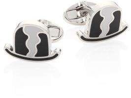Burberry Metallic Bowler Hat Cuff Links