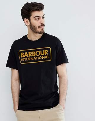 Barbour International Large Logo T-Shirt In Black