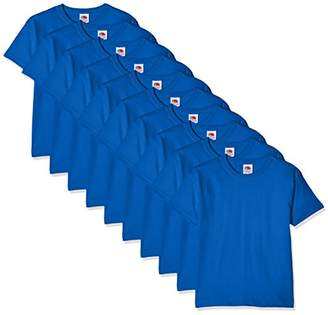 Fruit of the Loom Boy's Kids 10 Pack T-Shirt (Royal Blue), Years (Size: 3-4) Pack of 10