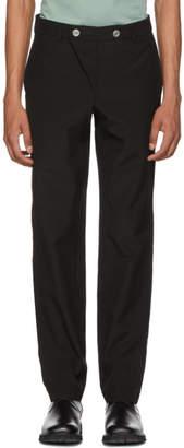 MACKINTOSH 0002 Black Double Front Button Trousers