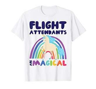 Flight Attendants are Magical Rainbow Unicorn Stewardess T-Shirt