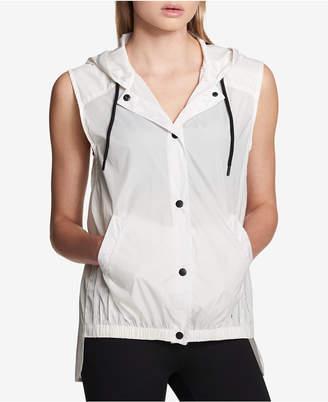 DKNY Sport Hooded High-Low Vest