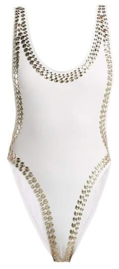 Marissa Studded Swimsuit - Womens - White