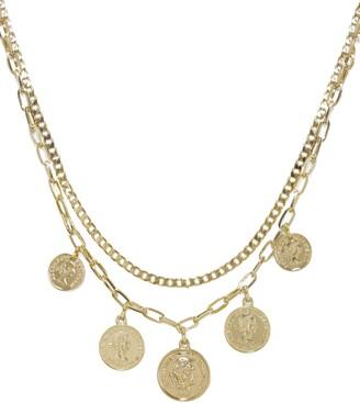Ettika Coin Multistrand Necklace