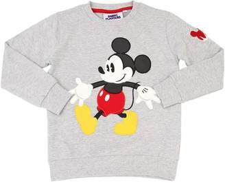 Mickey Mouse Print Cotton Sweatshirt