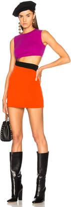 Fausto Puglisi Color Block Cut Out Mini Dress