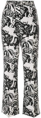 Aspesi graphic print trousers