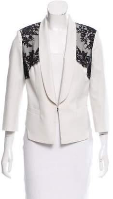 Robert Rodriguez Structured Lace-Trimmed Blazer