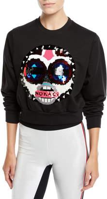 NO KA 'OI No Ka Oi Makini Sequin Logo Cropped Sweatshirt