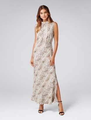 Forever New Peyton Sleeveless Satin Dress - Snake Print - 4
