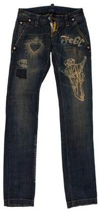 DSQUARED2 Low-Rise Straight-Leg Jeans