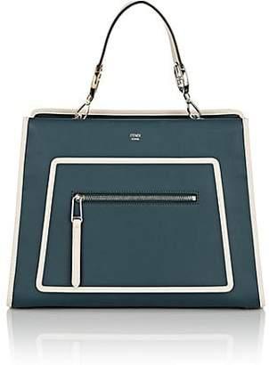 Fendi Women's Runaway Leather Tote Bag - Amazone Green