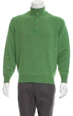 Brunello Cucinelli Cashmere Mock-Neck Sweater