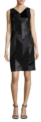 HUGO BOSS Syvila Leather Dress