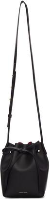 Mansur Gavriel Black Leather Mini Mini Bucket Bag $395 thestylecure.com