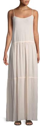 ATM Anthony Thomas Melillo Scoop-Neck Sleeveless Cotton Gauze Maxi Dress
