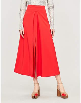 Awake Hattori high-waist crepe midi skirt