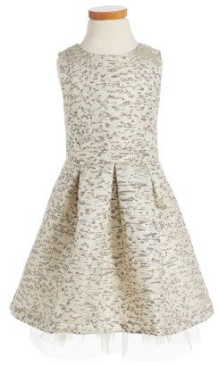 Toddler Girl's Ruby & Bloom Jacquard Fit & Flare Dress $59 thestylecure.com