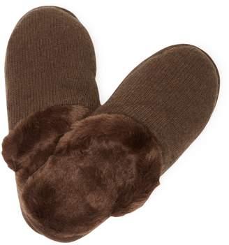 Portolano Cashemere, Wool & Faux Fur Slippers
