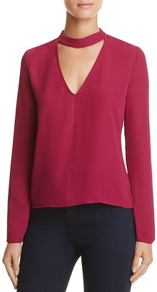 Olivaceous Long Sleeve Choker Top $58 thestylecure.com