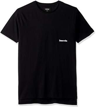 Zanerobe Men's Elongated Split Side Sponsor Flintlock Short Sleeve T-Shirt