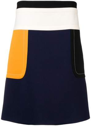 Marni colour block high-waist skirt