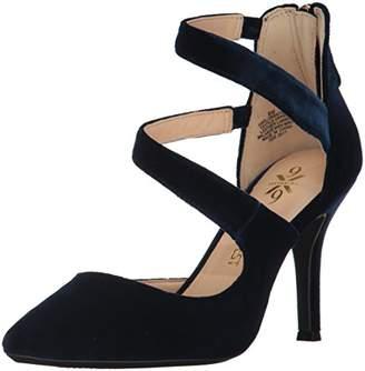 Nine West Women's Florent9x9 Ankle-Strap Blue Size: