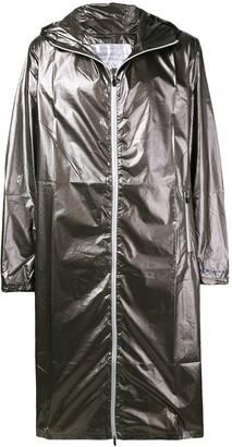Oakley By Samuel Ross metallic zipped coat