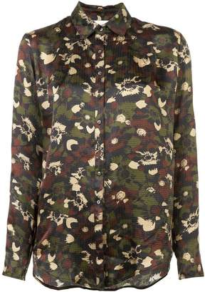 Nicole Miller camouflage shirt