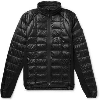 Canada Goose Hybridge Slim-Fit Packable Quilted Shell and Stretch-Jersey Down Jacket - Men - Black
