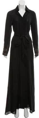 Maiyet Embellished Silk Dress