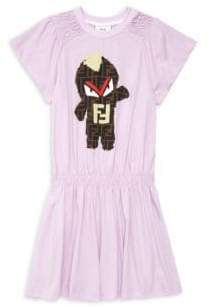 Fendi Little Girl's& Girl's Monster Dress - Lilac - Size 10
