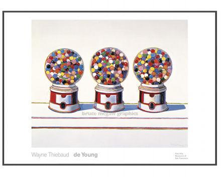 Thiebaud, Three Machines 1963 Poster