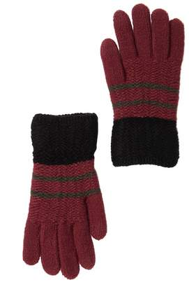 Steve Madden Tricolor Knit Touch Gloves