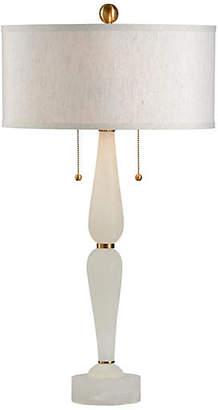 Wilson Alabaster Table Lamp - Natural/Brass - Wildwood