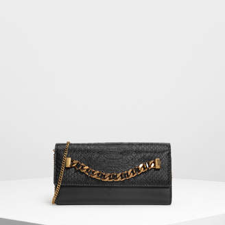 Charles & Keith (チャールズ & キース) - チェーンディテール ウォレット / Chain Detail Wallet