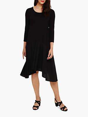 Phase Eight Hennie Hanky Hem Dress, Black
