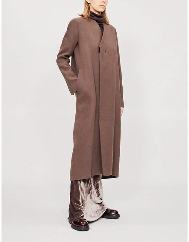 Museum camel hair and linen-blend jacket