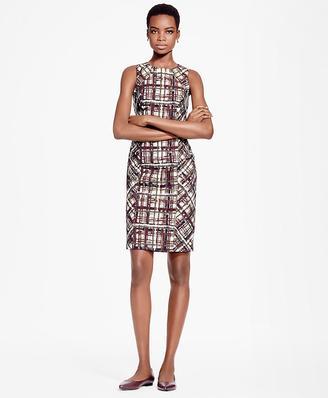 Plaid Jacquard Cotton Sheath Dress $498 thestylecure.com