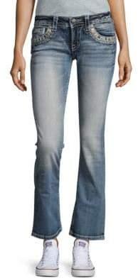 Miss Me Embellished Flared Denim Jeans