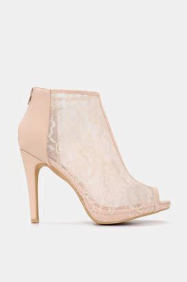 Ardene Lace Peep Toe Heels