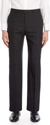 Lauren Ralph Lauren Charcoal Windowpane Dress Pants