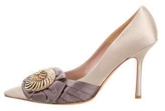 Oscar de la Renta Embellished Pointed-Toe Pumps