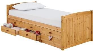 Kidspace Georgie Solid Pine Single Storage Bed Frame
