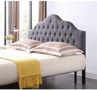 Hodedah Gray Linen Upholstered Tufted Victorian Headboard, Multiple Sizes