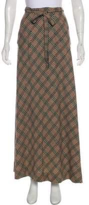 Missoni Wrap Plaid Skirt